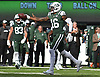 New York Jets wide receiver Terrelle Pryor #16 reacts after making a catch for a touchdown in the fourth quarter of an NFL game against the Denver Broncos at MetLife Stadium in East Rutherford, NJ on Sunday, Oct. 7, 2018.