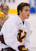 Tony Lucia (Minnesota 12) takes part in the Gophers' morning skate at the Xcel Energy Center in St. Paul, Minnesota, on Friday, October 12, 2007, during the Ice Breaker Invitational.
