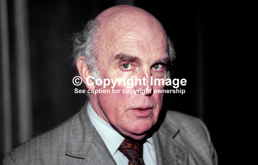 Professor Bernard Crick, academic, economist, political theorist, advisor to Neil Kinnock, leader, UK Labour Party, during 1980's, 19880304BC.<br />