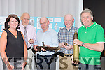 Frances Healy, Denis Barrett, Maurice O'Keeffe, John Mannix and Brendan O'Sullivan with some of the 1916 memorabilia at the Rising Centenary exhibition in the Malton Hotel on Tuesday evening