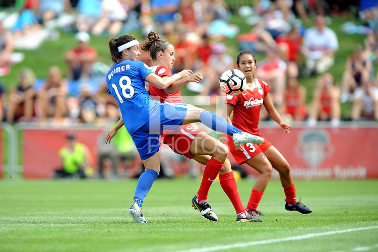 Boyds, MD - Saturday August 12, 2017: Tiffany Weimer, Havana Solaun during a regular season National Women's Soccer League (NWSL) match between the Washington Spirit and the Boston Breakers at Maureen Hendricks Field, Maryland SoccerPlex.