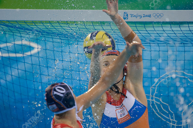 Womem's Water Polo final, Netherlands (in blue) defeats USA, Yingdong Natatorium, Summer Olympics, Beijing, China, August 21, 2008