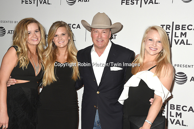 Gordon Whitener and daughters attends the Dog Years&quot; screening at the Tribeca Film Festival on April 22, 2017 at Cinepolis Chelsea in New York, New York, USA.<br /> <br /> photo by Robin Platzer/Twin Images<br />  <br /> phone number 212-935-0770