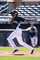 Seattle Mariners outfielder Gabriel Guerrero (10) during an Instructional League game on October 4, 2013 at Peoria Stadium in Peoria, Arizona.  (Mike Janes/Four Seam Images)