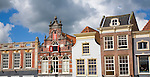 Historic buildings architecture details, Gouda, South Holland, Netherlands,