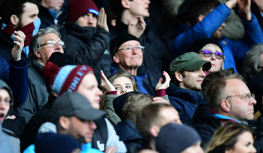 Burnley fans during the second half<br /> <br /> Photographer Chris Vaughan/CameraSport<br /> <br /> The Premier League - Hull City v Burnley - Saturday 25th February 2017 -  KCOM Stadium - Hull<br /> <br /> World Copyright &copy; 2017 CameraSport. All rights reserved. 43 Linden Ave. Countesthorpe. Leicester. England. LE8 5PG - Tel: +44 (0) 116 277 4147 - admin@camerasport.com - www.camerasport.com