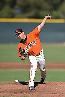 San Francisco Giants pitcher Caleb Smith (73) during an Instructional League game against the SK Wyverns on October 14, 2014 at Giants Baseball Complex in Scottsdale, Arizona.  (Mike Janes/Four Seam Images)