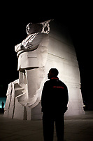 President Barack Obama tours the Martin Luther King Memorial in Washington, D.C., Oct. 14, 2011. (Official White House Photo by Pete Souza)<br /> <br /> This official White House photograph is being made available only for publication by news organizations and/or for personal use printing by the subject(s) of the photograph. The photograph may not be manipulated in any way and may not be used in commercial or political materials, advertisements, emails, products, promotions that in any way suggests approval or endorsement of the President, the First Family, or the White House.