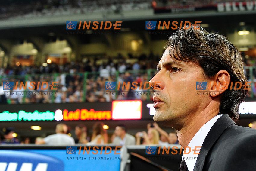Filippo Inzaghi Milan<br /> Milano 20-09-2014 Stadio Giuseppe Meazza - Football Calcio Serie A Milan - Juventus. Foto Giuseppe Celeste / Insidefoto