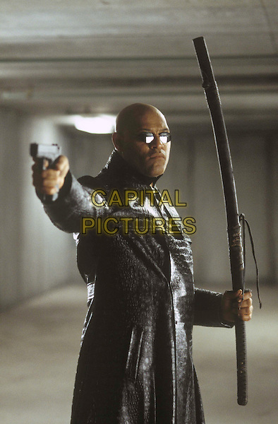 "LAURENCE FISHBURNE stars in Warner Bros. PicturesÕ and Village Roadshow PicturesÕ provocative futuristic action thriller ""The Matrix Reloaded"" .Filmstill - Editorial Use Only.Ref: FB.sales@capitalpictures.com.www.capitalpictures.com.Supplied by Capital Pictures."