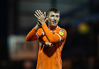 Blackpool's Chris Long applauds his side's travelling supporters at the end of the match <br /> <br /> Photographer Andrew Kearns/CameraSport<br /> <br /> The EFL Sky Bet League One - Portsmouth v Blackpool - Saturday 12th January 2019 - Fratton Park - Portsmouth<br /> <br /> World Copyright © 2019 CameraSport. All rights reserved. 43 Linden Ave. Countesthorpe. Leicester. England. LE8 5PG - Tel: +44 (0) 116 277 4147 - admin@camerasport.com - www.camerasport.com