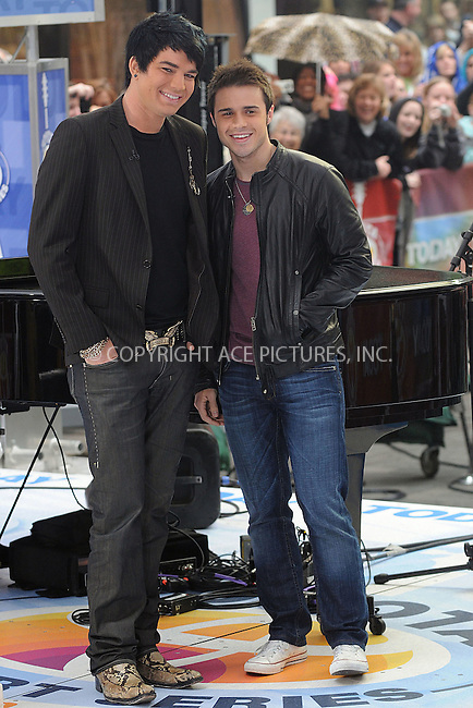 WWW.ACEPIXS.COM . . . . . ....May 28 2009, New York City....American Idol runner-up Adam Lambert and winner Kris Allen performed live on NBC's 'Today' show at the Rockefeller Plaza on May 28 2009 in New York City.....Please byline: KRISTIN CALLAHAN - ACEPIXS.COM.. . . . . . ..Ace Pictures, Inc:  ..tel: (212) 243 8787 or (646) 769 0430..e-mail: info@acepixs.com..web: http://www.acepixs.com