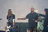Phil ANselmo and Rex Brown of Pantera fame perform live for the first time together in years with Anthrax at the Revolver Golden Gods Awards presented by Epiphone held at Club Nokia in Los Angeles, CA USA - May 2, 2013. Photo credit: Kevin Estrada / IconicPix