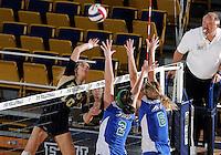 Florida International University women's volleyball player Marija Prsa (10) plays against Florida Gulf Coast University.  FIU won the match 3-0 on November 8, 2011 at Miami, Florida. .