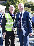 Minister Ged Nash with Donal Lucey at the Road Bowls finals at Baltray. Photo:Colin Bell/pressphotos.ie