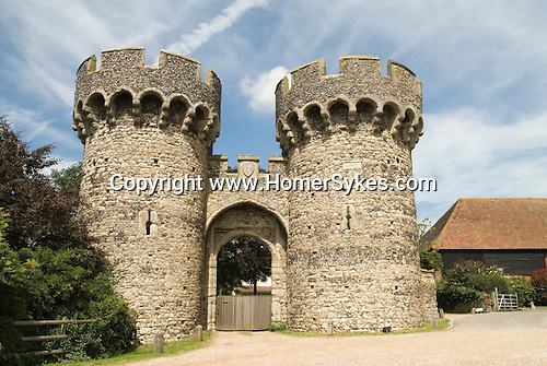 Cooling Castle. Cooling. Hoo Peninsular Isle of Grain Kent England. Entrace to a private home now.
