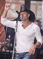 NEW YORK CITY, NY, USA - MAY 23: Tim McGraw performs on NBC's 'Today' at the Rockefeller Center on May 23, 2014 in New York City, New York, United States. (Photo by Jeffery Duran/Celebrity Monitor)