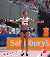 Morgan LAKE of GBR prepares for the Long Jump during the Sainsburys Anniversary Games at the Olympic Park, London, England on 25 July 2015. Photo by Andy Rowland.