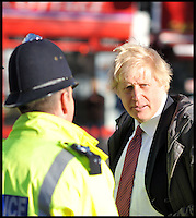 Boris with Police Officers