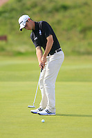 Jack McDonald (SCO)on the 11th green during the Home Internationals day 2 foursomes matches supported by Fairstone Financial Management Ltd. at Royal Portrush Golf Club, Portrush, Co.Antrim, Ireland.  13/08/2015.<br /> Picture: Golffile   Fran Caffrey<br /> <br /> <br /> All photo usage must carry mandatory copyright credit (© Golffile   Fran Caffrey)