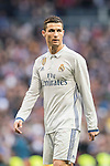 Cristiano Ronaldo of Real Madrid looks on during their La Liga 2016-17 match between Real Madrid and Malaga CF at the Estadio Santiago Bernabéu on 21 January 2017 in Madrid, Spain. Photo by Diego Gonzalez Souto / Power Sport Images