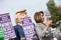 United States House Minority Leader Nancy Pelosi (Democrat of California) speaks during a rally led by United States Congressional Democrats against United States President Donald J. Trump's proposed tax plan outside the United States Capitol in Washington, D.C. on November 1st, 2017.<br /> Credit: Alex Edelman / CNP /MediaPunch