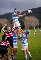 Action from the Wellington Under-15 rugby natch between St Patrick's College Silverstream and Scots College at St Pat's Silverstream in Upper Hutt, New Zealand on Saturday, 16 June 2018. Photo: Dave Lintott / lintottphoto.co.nz
