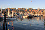Santa Barbara Harbor in evening