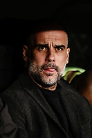 26th February 2020; Estadio Santiago Bernabeu, Madrid, Spain; UEFA Champions League Football, Real Madrid versus Manchester City; Josep Guardiola, coach of Manchester City