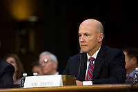 Richard Smith, the former Chief Executive Officer of Equifax during a hearing entitled 'Protecting Consumers in the Era of Major Data Breaches' before the Senate Commerce, Science, and Transportation Committee on Capitol Hill in Washington, D.C. on November 8th, 2017. Credit: Alex Edelman / CNP /MediaPunch