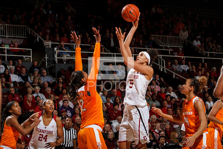 Stanford, CA - Saturday December 16, 2015: Kaylee Johnson during the Stanford vs Tennessee basketball game Wednesday night at Maples.<br /> <br /> The Cardinal defeated the Volunteers 69-55.<br /> .