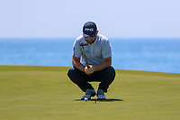Andy Sullivan (ENG) on the 7th green during Round 3 of the Rocco Forte Sicilian Open 2018 played at Verdura Resort, Agrigento, Sicily, Italy on Saturday 12th May 2018.<br /> Picture:  Thos Caffrey / www.golffile.ie<br /> <br /> All photo usage must carry mandatory copyright credit (&copy; Golffile   Thos Caffrey)