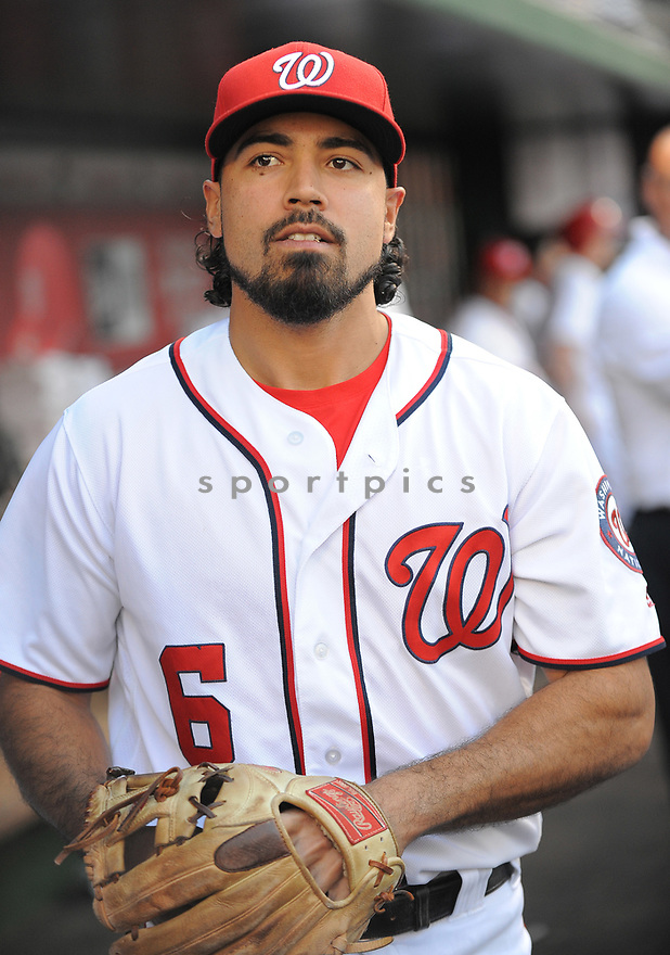 Washington Nationals Anthony Rendon (6) during a game against the Chicago Cubs on June 14, 2016 at Nationals Park in Washington, DC. The Cubs beat the Nationals 4-3.