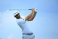 Dustin Johnson (USA) during the second round of The Northern Trust, Liberty National Golf Club, Jersey City, New Jersey, USA. 09/08/2019.<br /> Picture Michael Cohen / Golffile.ie<br /> <br /> All photo usage must carry mandatory copyright credit (© Golffile | Michael Cohen)