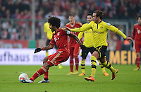 FUSSBALL  DFB-POKAL  VIERTELFINALE  SAISON 2012/2013    FC Bayern Muenchen - Borussia Dortmund          27.02.2013 Dante (li, FC Bayern Muenchen) gegen Mario Goetze (re, Borussia Dortmund)