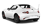 Car pictures of rear three quarter view of 2017 Mazda MX-5-RF Club 2 Door Targa Angular Rear