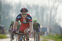 Silvan Dillier (SUI/BMC) over the Varentstraat cobbles<br /> <br /> 57th E3 Harelbeke 2014