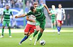 05.10.2019,  GER; 2. FBL, Hamburger SV vs SpVgg Greuther Fuerth ,DFL REGULATIONS PROHIBIT ANY USE OF PHOTOGRAPHS AS IMAGE SEQUENCES AND/OR QUASI-VIDEO, im Bild Lukas Hinterseer (Hamburg #16) versucht sich gegen Mergim Mavraj(Fuerth #05) durchzusetzen Foto © nordphoto / Witke *** Local Caption ***