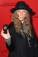 "NEW YORK, NY - NOVEMBER 20: Patti Smith at the New York Premiere Of Lionsgate's ""The Hunger Games: Catching Fire"" held at AMC Lincoln Square Theater on November 20, 2013 in New York City. (Photo by Jeffery Duran/Celebrity Monitor)"