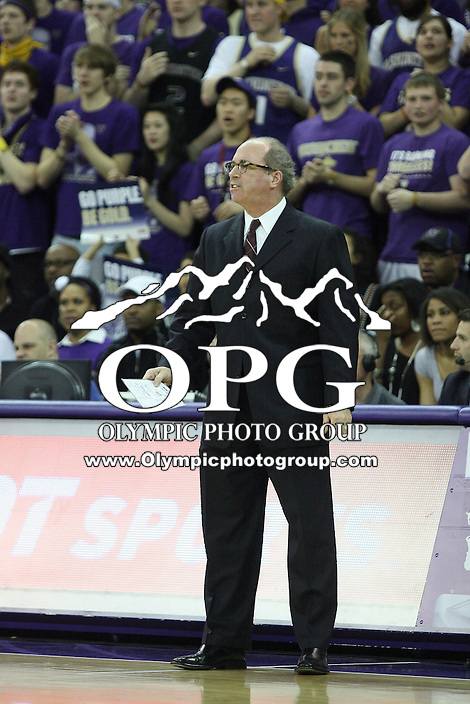 Mar 05, 2011:   USC head coach Kevin O'Neill watches his team from the bench against Washington.  USC defeated Washington 62-60 at Alaska Airlines Arena Seattle, Washington...