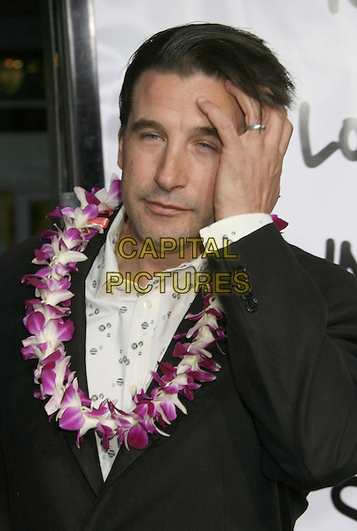 "BILLY BALDWIN .""Forgetting Sarah Marshall"" Los Angeles Premiere held at Grauman's Chinese Theatre, Hollywood, California, USA, 10 April 2008..portrait headshot pink flower garland hand on head funny wedding ring .CAP/ADM/RE.©Russ Elliot/Admedia/Capital PIctures"