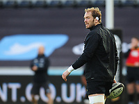 Ospreys' Alun Wyn Jones during the pre-match warmup<br /> <br /> Photographer Kevin Barnes/CameraSport<br /> <br /> Guinness Pro14 Round 13 - Ospreys v Cardiff Blues - Saturday 6th January 2018 - Liberty Stadium - Swansea<br /> <br /> World Copyright &copy; 2018 CameraSport. All rights reserved. 43 Linden Ave. Countesthorpe. Leicester. England. LE8 5PG - Tel: +44 (0) 116 277 4147 - admin@camerasport.com - www.camerasport.com