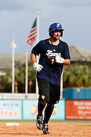 18 September 2012: France Florian Peyrichou runs the bases during Team France practice, at the 2012 World Baseball Classic Qualifier round, in Jupiter, Florida, USA.