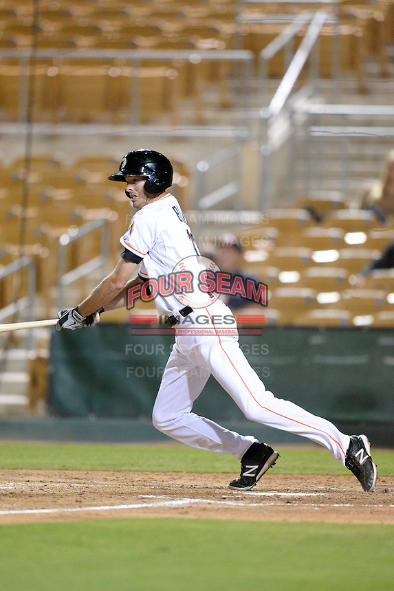 Glendale Desert Dogs shortstop Danny Black (11), of the Miami Marlins organization, during an Arizona Fall League game against the Peoria Javelinas on October 14, 2013 at Camelback Ranch Stadium in Glendale, Arizona.  Glendale defeated Peoria 5-1.  (Mike Janes/Four Seam Images)