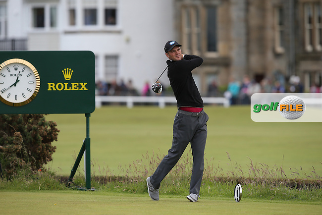 Martin Kaymer (GER) drives from the 2nd tee during Round Two of the 144th Open, played at the Old Course, St Andrews, Scotland. /17/07/2015/. Picture: Golffile | David Lloyd<br /> <br /> All photos usage must carry mandatory copyright credit (&copy; Golffile | David Lloyd)
