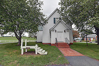 The Hebron Lutheran Church.  The oldest continious<br /> Luthern Church in America.  Hebron Lutheran Church is a historic Lutheran church located in the countryside northeast of Madison, Madison County, Virginia. The original section was built about 1740, with the south wing added about 1800. It is a one-story, &quot;T&quot; shaped, frame building on a stone foundation. The original section measures 50 feet by 26 feet. The building was renovated in 1850 and, in 1885, the flat ceilings were adorned with decorative frescoes of rich Victorian patterns by Giuseppe Oddenino. The building was renovated again in 1961.[3] taken in Madison County, Virginia Photo/Andrew Shurtleff