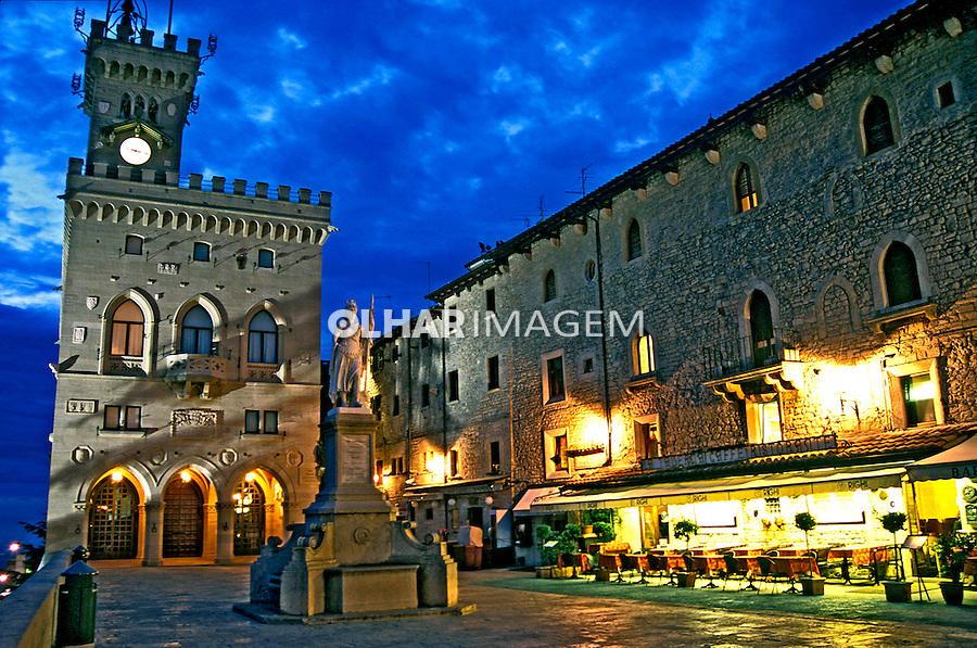 Praça centraal de San Marino. 2002. Foto de Vinicius Romanini.