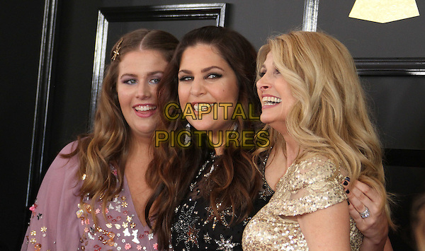 12 February 2017 - Los Angeles, California - Linda Davis, Hillary Scott, Rylee Scott. 59th Annual GRAMMY Awards held at the Staples Center.  <br /> CAP/ADM<br /> &copy;ADM/Capital Pictures