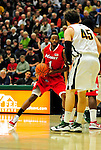 12 December 2010: Marist College Red Foxes' guard/forward Dorvell Carter, a Redshirt Sophomore from the Bronx, NY, in action against the University of Vermont Catamounts at Patrick Gymnasium in Burlington, Vermont. The Catamounts (7-2) defeated the Red Foxes 75-67 notching their 7th win of the season, and their best start since the '63-'64 season. Mandatory Credit: Ed Wolfstein Photo