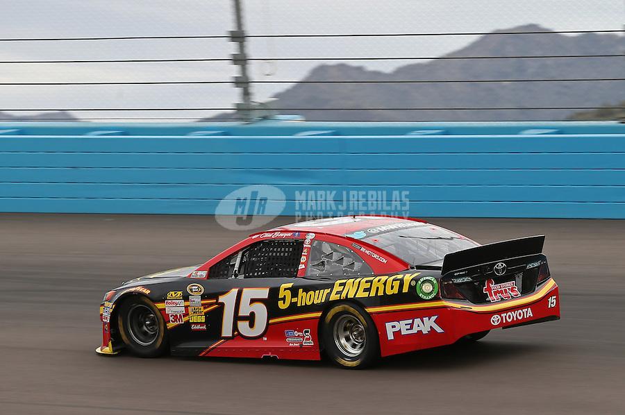 Mar. 3, 2013; Avondale, AZ, USA; NASCAR Sprint Cup Series driver Clint Bowyer during the Subway Fresh Fit 500 at Phoenix International Raceway. Mandatory Credit: Mark J. Rebilas-